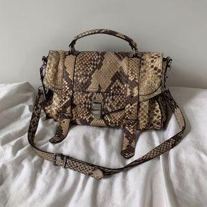 Proenza Schouler PS1 Medium Python Leather Bag
